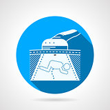 Round infant ultrasound vector icon