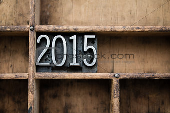 2015 Vintage Letterpress Type in Drawer