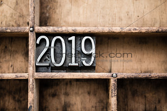 2019 Vintage Letterpress Type in Drawer