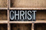 Christ Vintage Letterpress Type in Drawer