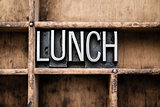 Lunch Vintage Letterpress Type in Drawer