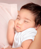 Cute sleeping baby portrait