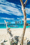 puka beach in boracay island philippines