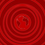 Red flat minimal tech background