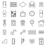 House related line icons on white background