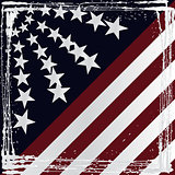 American flag grunge style. Vector.