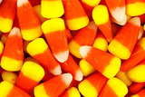 Colorful Halloween candy corn