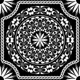 vector white pattern of spirals, swirls and chains