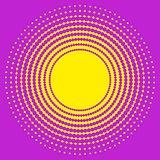 Halftone circle texture