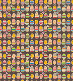 Seamless dark pattern with easter chickens