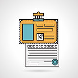 Flat vector icon for patient paper