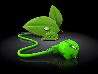 green energy plug in 3d