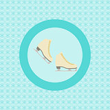 Pair Ice skating flat icon