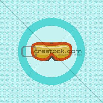 Ski goggles flat icon