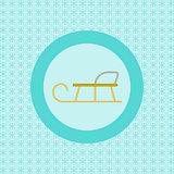 Sledge flat icon