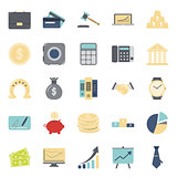 Bisiness and finance flat icons set