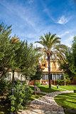 Tropical classical spanish villa with beautiful garden