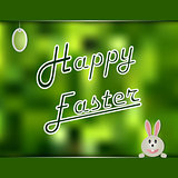 Easter card with green abstract background