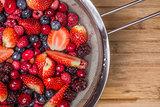 Mixed Berries in Colander