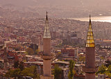 Minarets in Izmir Turkey