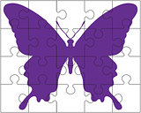 puzzle and butterfly