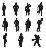 firefighter silhouettes