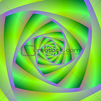Green and Lilac Spiral