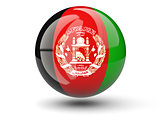 Round icon of flag of afghanistan