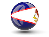Round icon of flag of american samoa