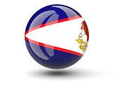 Round icon of flag of american samoa