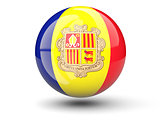 Round icon of flag of andorra