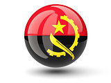 Round icon of flag of angola