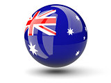 Round icon of flag of australia