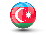 Round icon of flag of azerbaijan