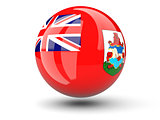 Round icon of flag of bermuda