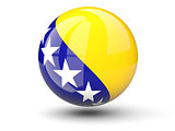 Round icon of flag of bosnia and herzegovina