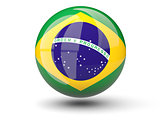 Round icon of flag of brazil