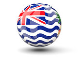 Round icon of flag of british indian ocean territory