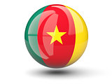 Round icon of flag of cameroon