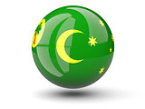 Round icon of flag of cocos islands