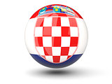 Round icon of flag of croatia