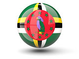 Round icon of flag of dominica