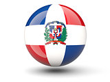 Round icon of flag of dominican republic
