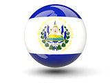 Round icon of flag of el salvador