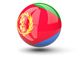 Round icon of flag of eritrea