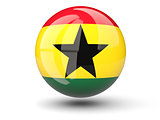 Round icon of flag of ghana