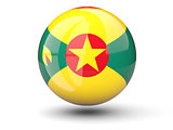Round icon of flag of grenada
