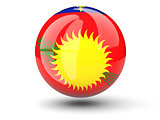 Round icon of flag of guadeloupe