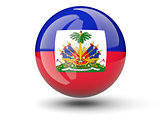 Round icon of flag of haiti