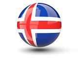 Round icon of flag of iceland